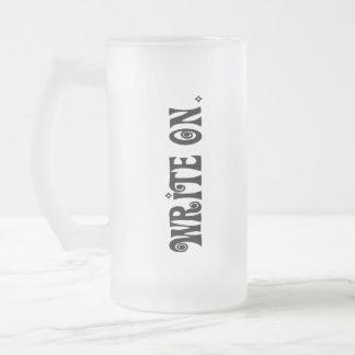 書いて下さい(Ver 3) フロストグラスビールジョッキ