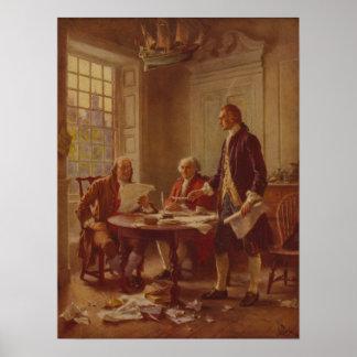 書きます[1776年]独立宣言を ポスター