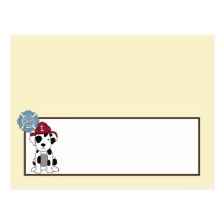 書き込み可能な座席表のNojoの消防車 ポストカード
