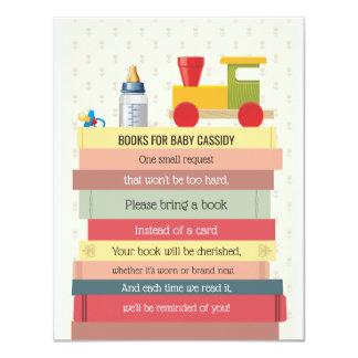書架は本のベビーシャワーを持って来ます カード