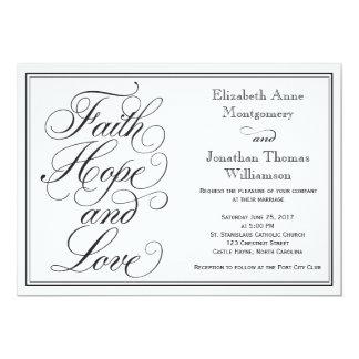 書道の信頼の希望愛結婚式招待状 12.7 X 17.8 インビテーションカード
