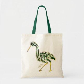 書道の鳥(こうのとり) トートバッグ