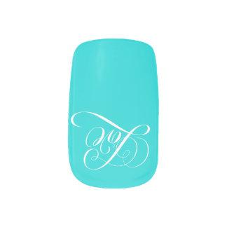 書道の「Tiffanyの青い」水のネイルを愛して下さい ネイルアート
