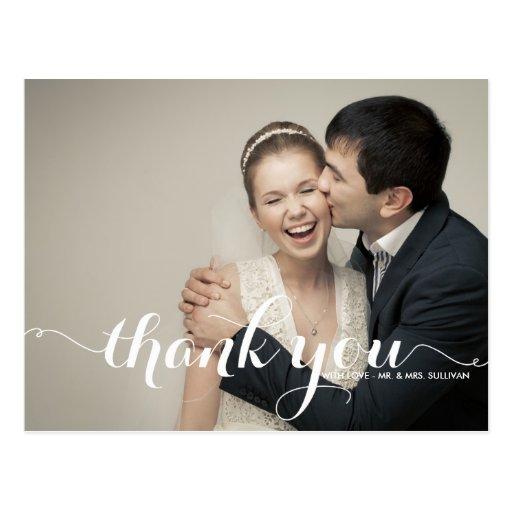 書道 原稿 結婚 感謝していして下さい  郵便はがき ポストカード