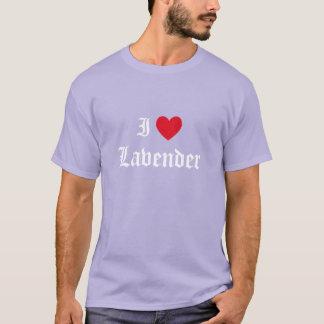 書道I愛ラベンダー Tシャツ