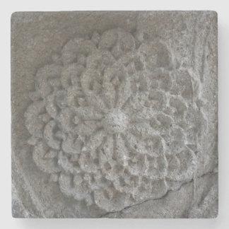 曼荼羅によって切り分けられる石造りの写真の大理石の石のコースター ストーンコースター