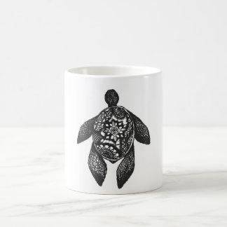 曼荼羅のカメ コーヒーマグカップ