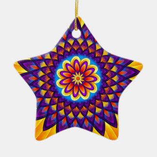 曼荼羅のダリア 陶器製星型オーナメント