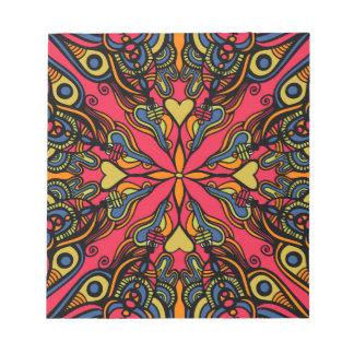 曼荼羅のデザインのノート ノートパッド