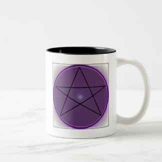 曼荼羅の五芒星 ツートーンマグカップ