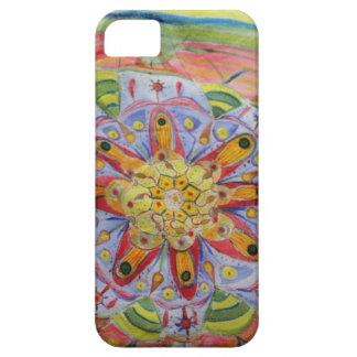 曼荼羅の水彩画のiPhone SE + iPhone 5/5Sの場合 iPhone SE/5/5s ケース