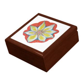 曼荼羅の花の木の宝石類の記念品箱 ギフトボックス