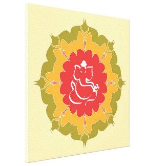 曼荼羅の花の神Ganesha キャンバスプリント