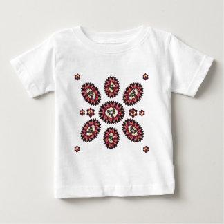 曼荼羅の花模様 ベビーTシャツ