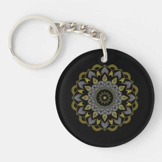 曼荼羅の花Keychain キーホルダー