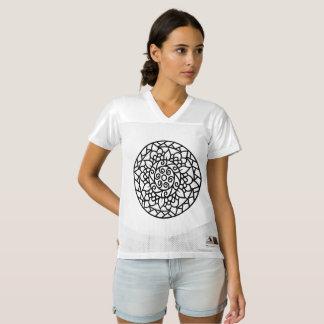 曼荼羅の芸術の女性のオーガスタのTシャツ レディースフットボールジャージー