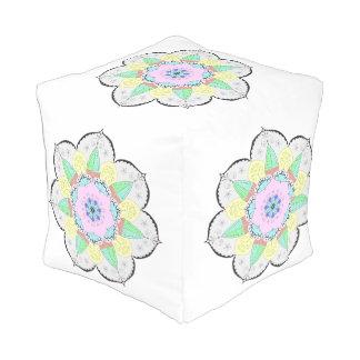 曼荼羅の芸術はデザインの花の花のヨガomを模造します アウトドアプーフ