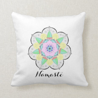 曼荼羅の芸術はナマステのヨガの花柄の枕を模造します クッション