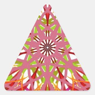 曼荼羅の藤色月曜日 三角形シール