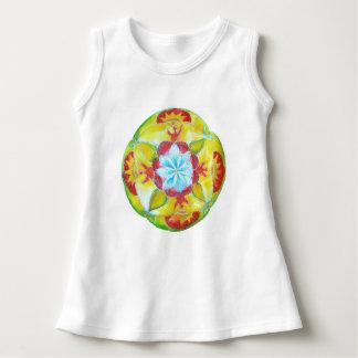 曼荼羅の赤ん坊のTシャツ ドレス