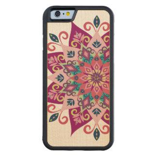 曼荼羅の開花のかえで木iPhone6ケース CarvedメープルiPhone 6バンパーケース