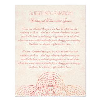 曼荼羅のBohoのシックな結婚式のゲスト情報 カード