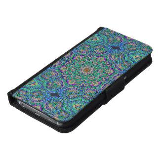 曼荼羅のSmartphoneの緑のウォレットケース: 電話opt.s
