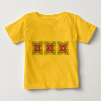 曼荼羅シリーズ-情熱の花 ベビーTシャツ