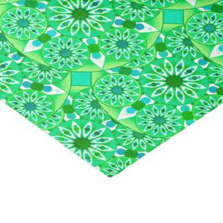 曼荼羅パターン、エメラルドグリーンおよび孔雀 薄葉紙