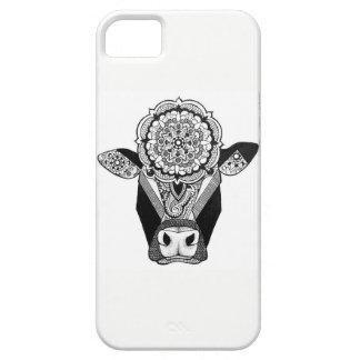 曼荼羅牛電話箱 iPhone SE/5/5s ケース