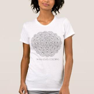 曼荼羅010617の大人の着色のファッションは名前を加えます Tシャツ