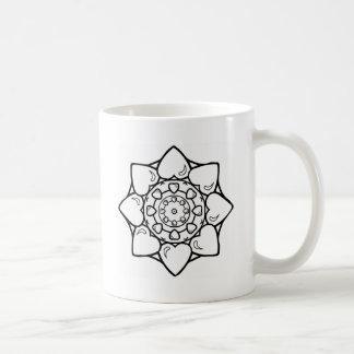 曼荼羅36のハート コーヒーマグカップ