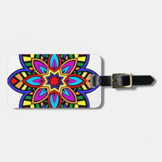 曼荼羅42のシェブロンの花色版 ラゲッジタグ