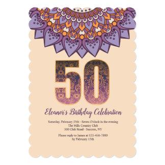 曼荼羅50の招待状 カード
