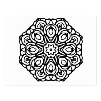 曼荼羅6本の蝋燭の花 ポストカード