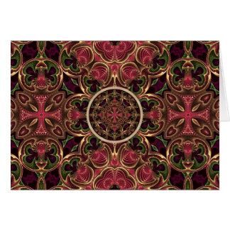 曼荼羅、目まぐるしい十字のタペストリーの抽象芸術 カード