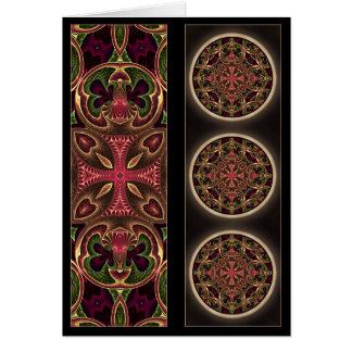 曼荼羅、目まぐるしい十字の抽象芸術 カード