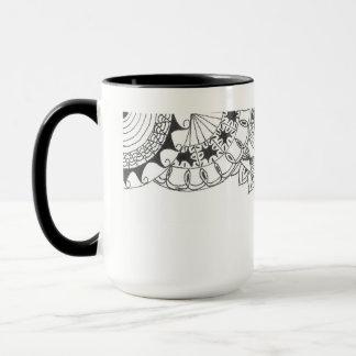 曼荼羅-花びら マグカップ