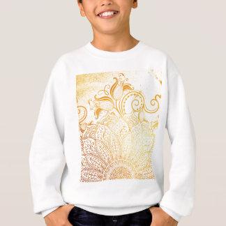 曼荼羅-金ブラシ スウェットシャツ