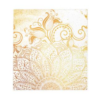 曼荼羅-金ブラシ ノートパッド