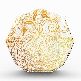 曼荼羅-金ブラシ 表彰盾