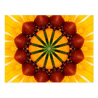 曼荼羅-黒目のスーザン ポストカード