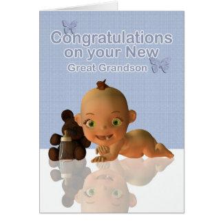曾祖母になるお祝い グリーティングカード