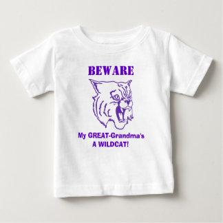曾祖母の用心して下さい! 子供のTシャツ ベビーTシャツ