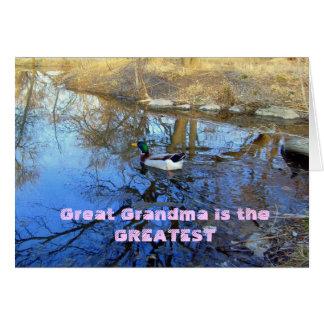 曾祖母は最も素晴らしいカードです カード