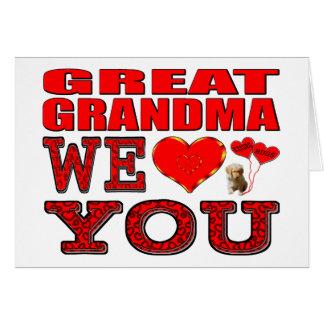 曾祖母私達は愛します グリーティングカード