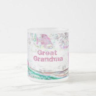 曾祖母 フロストグラスマグカップ