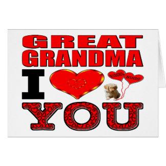 曾祖母I愛 グリーティングカード