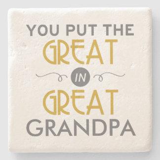 曾祖父に素晴らしいの置きました ストーンコースター