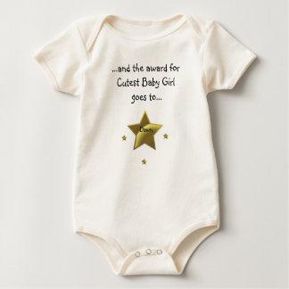 最もかわいい女の赤ちゃん: 夜明け ベビーボディスーツ